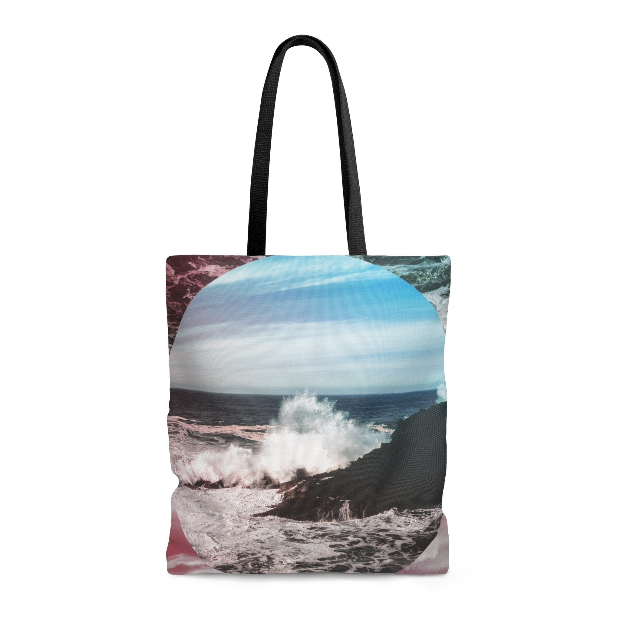 Waves Crash Premium Tote Bag 18x18 in Printify