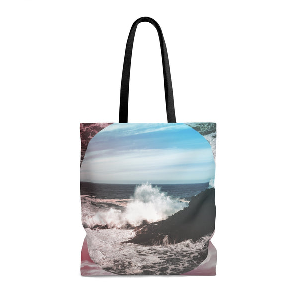 Waves Crash Premium Tote Bag Printify