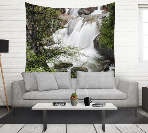 Wedding Veil Waterfall, Forest Wall Tapestry Lost In Nature
