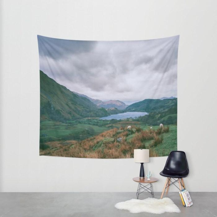 Welsh Valley Wall Tapestry Lost In Nature