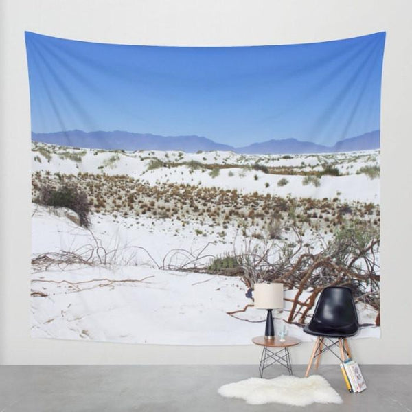 White Sands New Mexico Wall Tapestry Lost In Nature