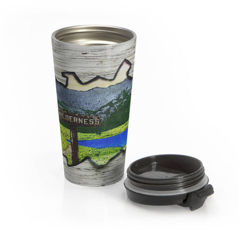 Wilderness Stainless Steel Travel Mug Lost in Nature