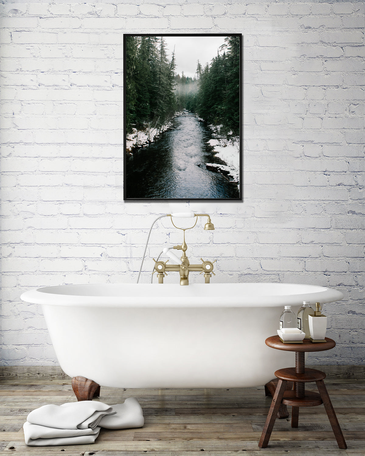 The Winter River, Northeast Washington State Fine Art Print