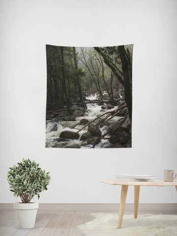 Yosemite Wall Tapestry Lost in Nature