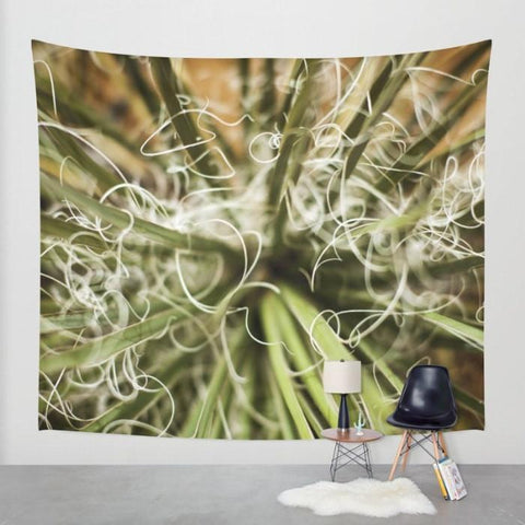 Yucca Plant, Botanical Wall Tapestry Lost In Nature