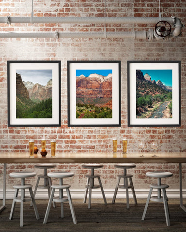 Zion National Park, Set of Three Prints Lost Kat Photography