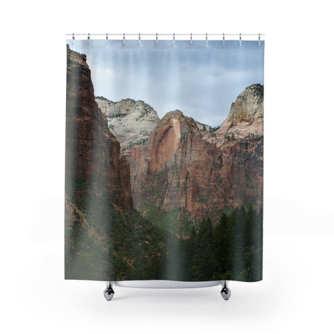 Zion Utah Shower Curtain 71x74 Printify