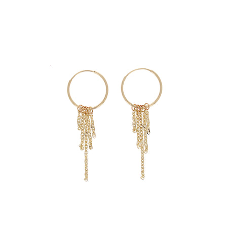 Gemma diamond fringe earring back