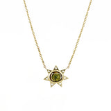 Ezra Necklace: Olive Tourmaline