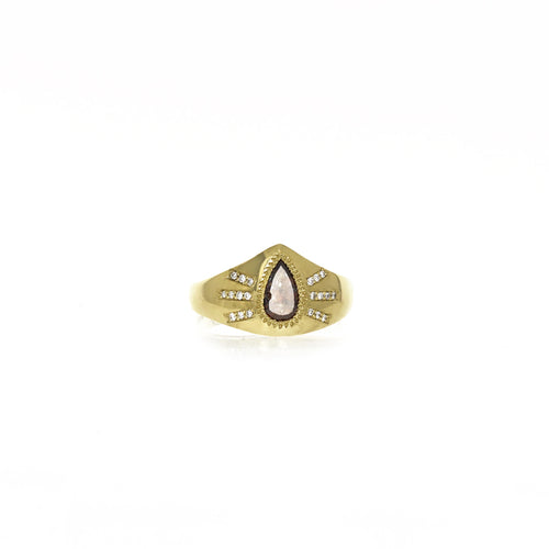 Jagger Ring: Rustic Diamond