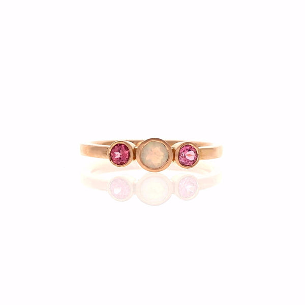 Alice Ring: Opal & Spinel