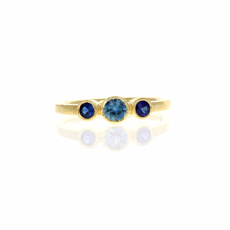 Emily Ring with Blue and Yellow Sapphires