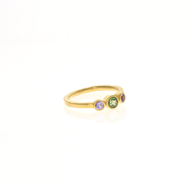 Alice Ring: Mint & Purple Sapphires
