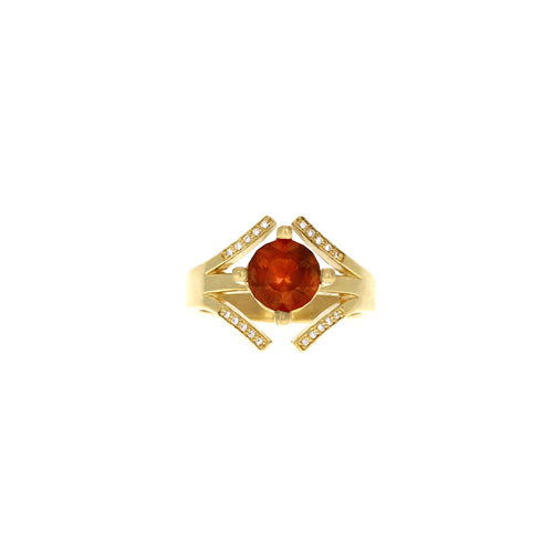 "Athena Ring: ""Lucky 7"" Oregon Sunstone"