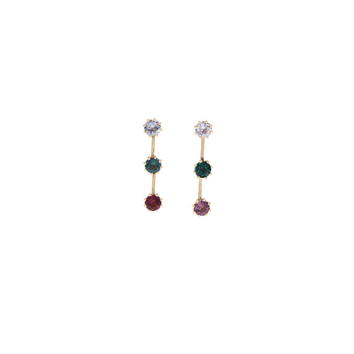 Avery Earring: MultiColored Spinel