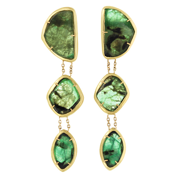 Bridgette Earrings: Emeralds