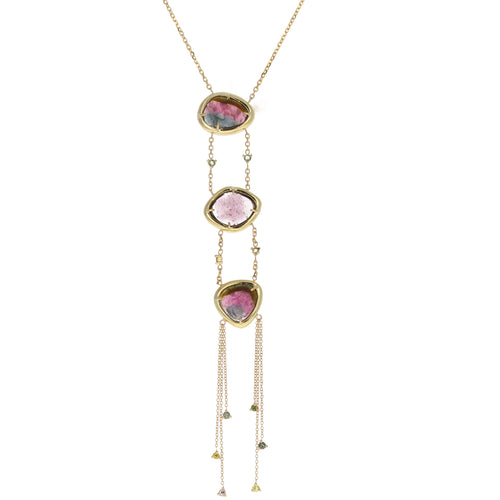 Esmay Necklace: Bicolor Tourmalines