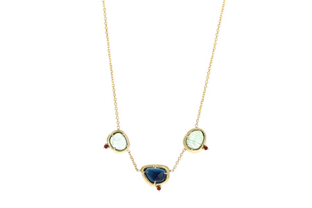 Yuna Moon Diamond Necklace
