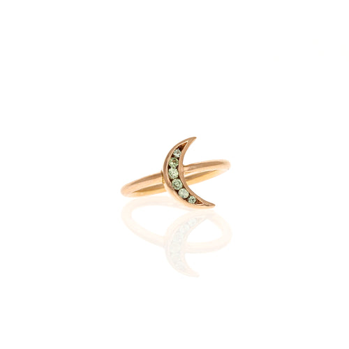 Lunette Ring: Mint Sapphires