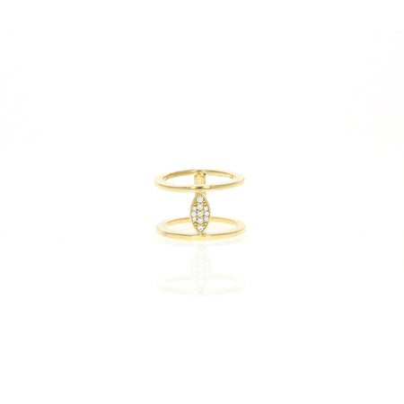 Audree Ring: Oregon Sunstone & Cognac Diamonds