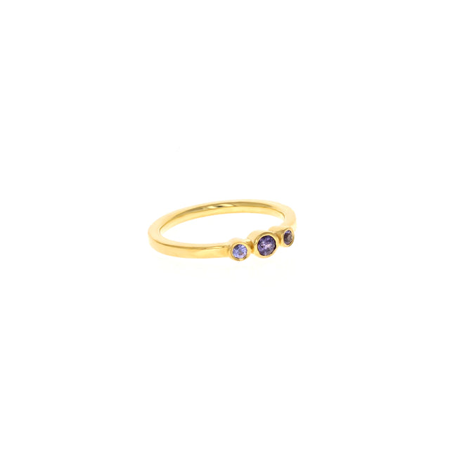 Petite Alice Ring: Purple Sapphires