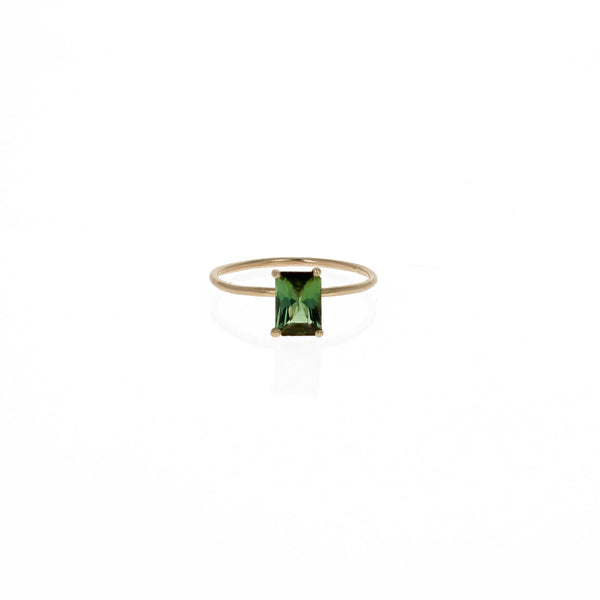 Raye Ring: Green Tourmaline