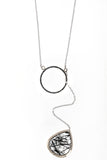 Sloan Necklace: Black Rutilated Quartz