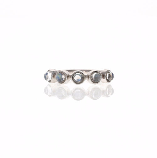 Zoe Ring: Rainbow Moonstone