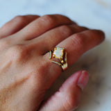 Athena Ring: Opal & Diamond
