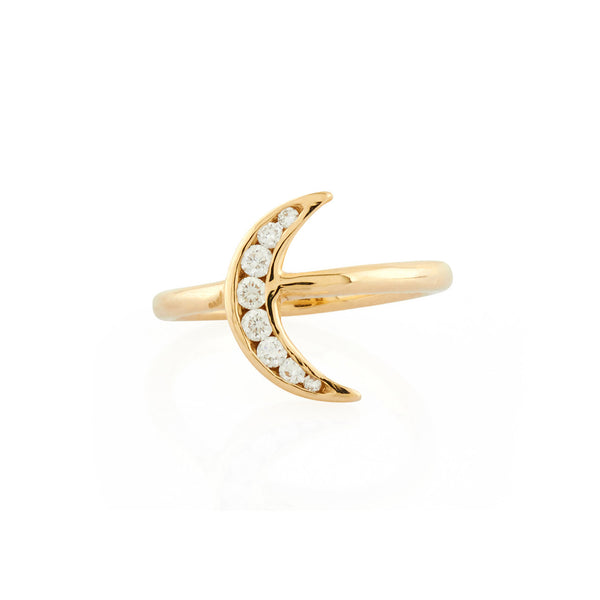 Lunette Ring: Diamonds