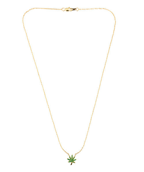 Mary Leaf III Necklace Emerald