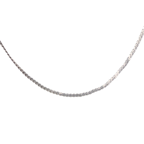14kt White Gold Flat Chain