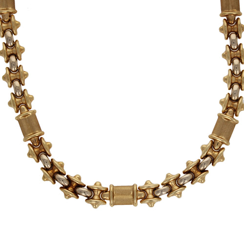 Vintage Statement 14kt Solid Gold Necklace