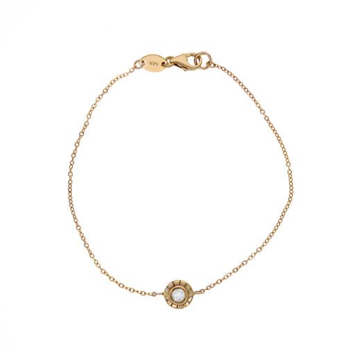 Olivia Bracelet with Diamond 14kt Yellow Gold