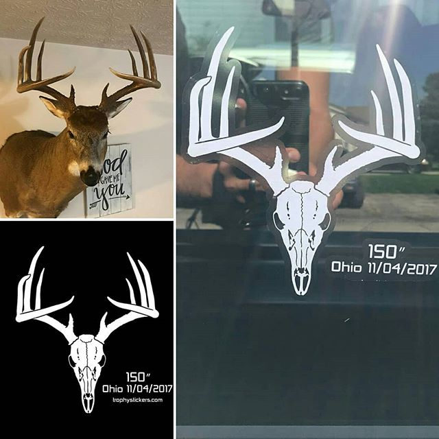 Deer truck decal