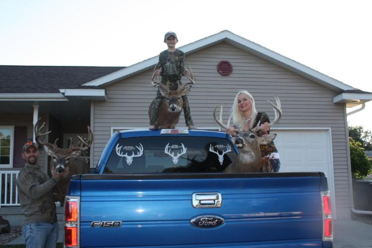 whitetail decals for trucks