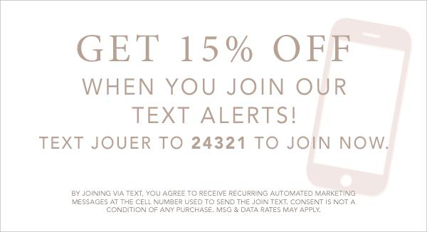 15% Off Join Text Alert