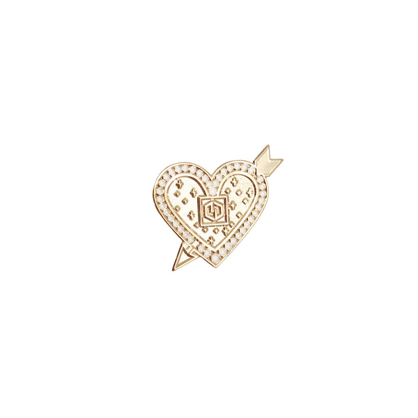 Get Charmed Heart and Arrow Pin