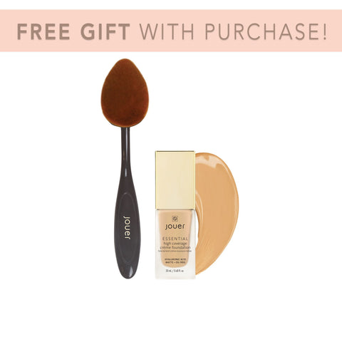 Essential High Coverage Crème Foundation and Brush Bundle