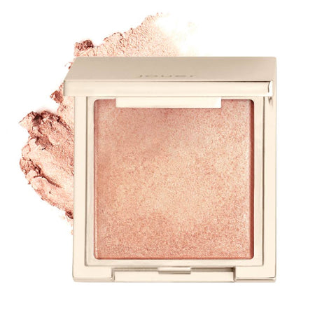 alt: skinny dip highlighter (shimmering golden peach) compact