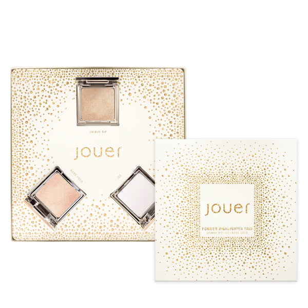 Travel Sized Powder Highlighter Gift Set - Skinny Dip, Ice and Rose Gold