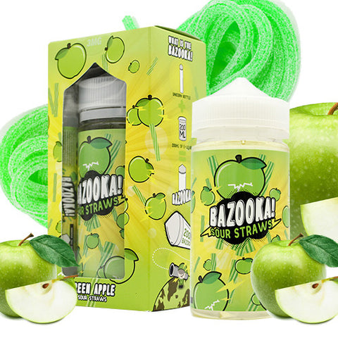 Apple Sour Straws - Bazooka Sour Straws