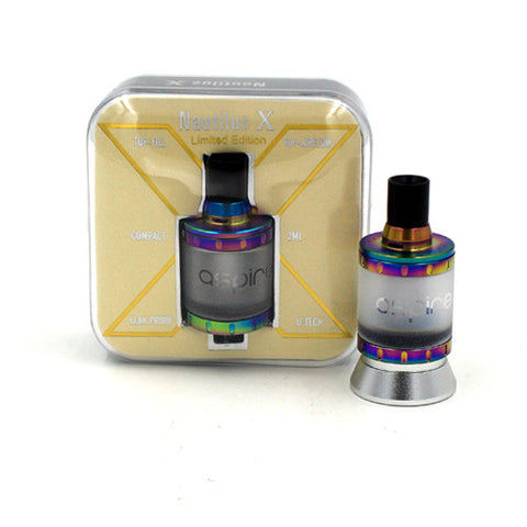 ASPIRE NAUTILUS X TANK LIMITED EDITION RAINBOW WITH U-TECH COILS