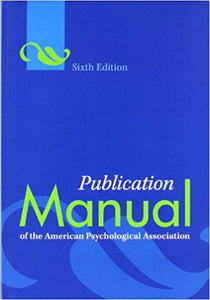 Publication Manual of the American Psychological Association 6th Edition PDF - Books with Benefits