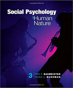 Social Psychology and Human Nature 3rd Edition by Roy F. Baumeister PDF - Books with Benefits