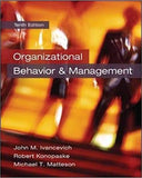 Organizational Behavior and Management 10th Edition by John M Ivancevich  PDF