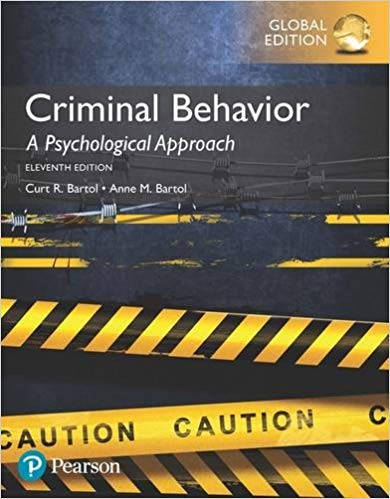 Criminal Behavior: A Psychological Approach, Global Edition by Anne Bartol Curt Bartol PDF