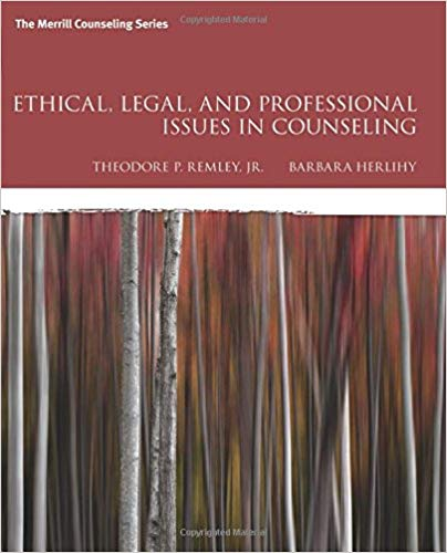 Ethical, Legal, and Professional Issues in Counseling  5th Edition by Theodore P. Remley PDF