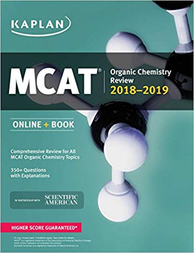 MCAT Organic Chemistry Review 2018-2019 by Kaplan PDF