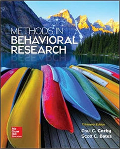 Methods in Behavioral Research 13th Edition by Paul C. Cozby PDF - Books with Benefits